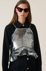 Sequins Topp, Silver, hi-res