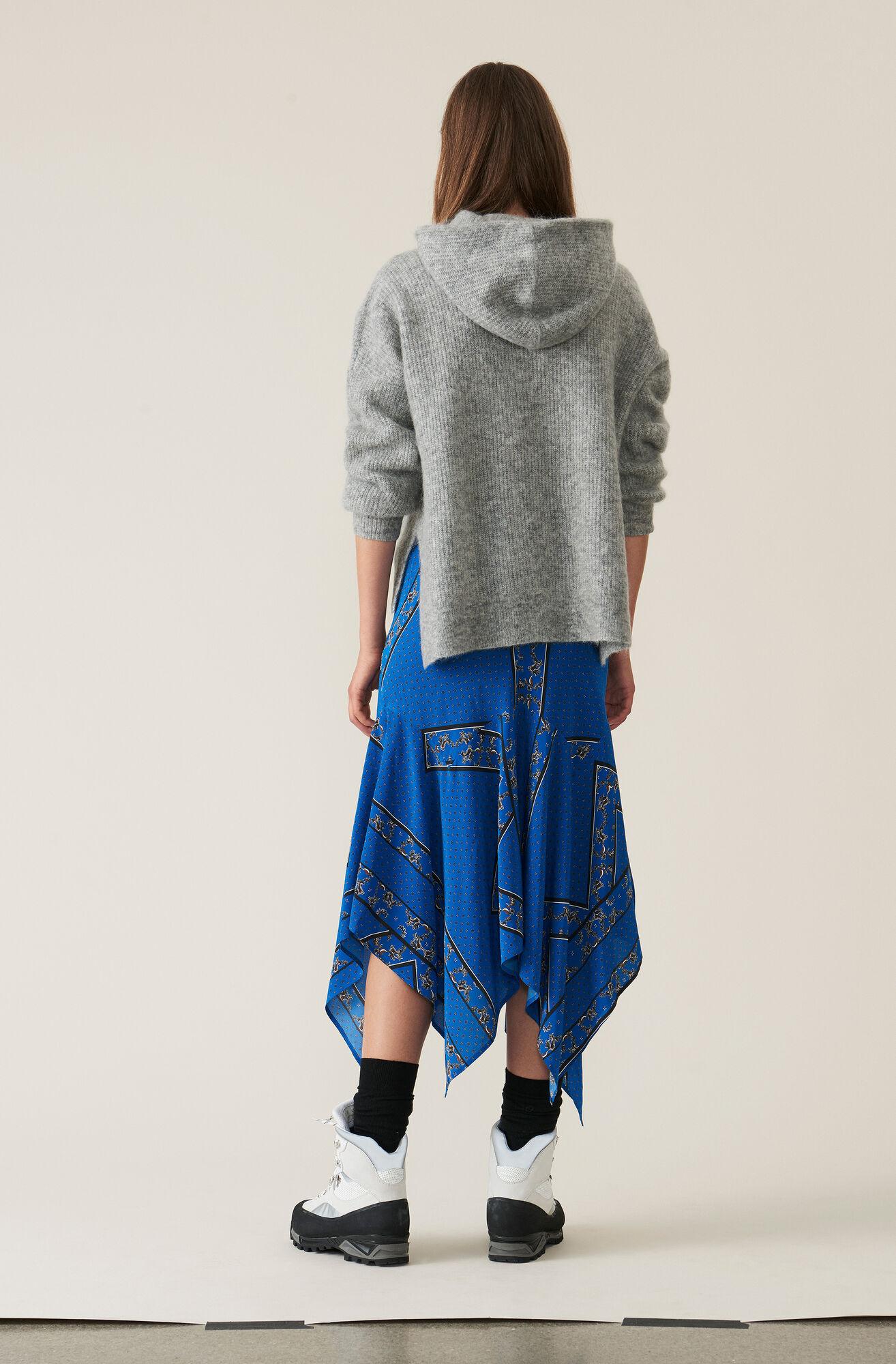 Soft Wool Knit Hoodie, Paloma Melange, hi-res
