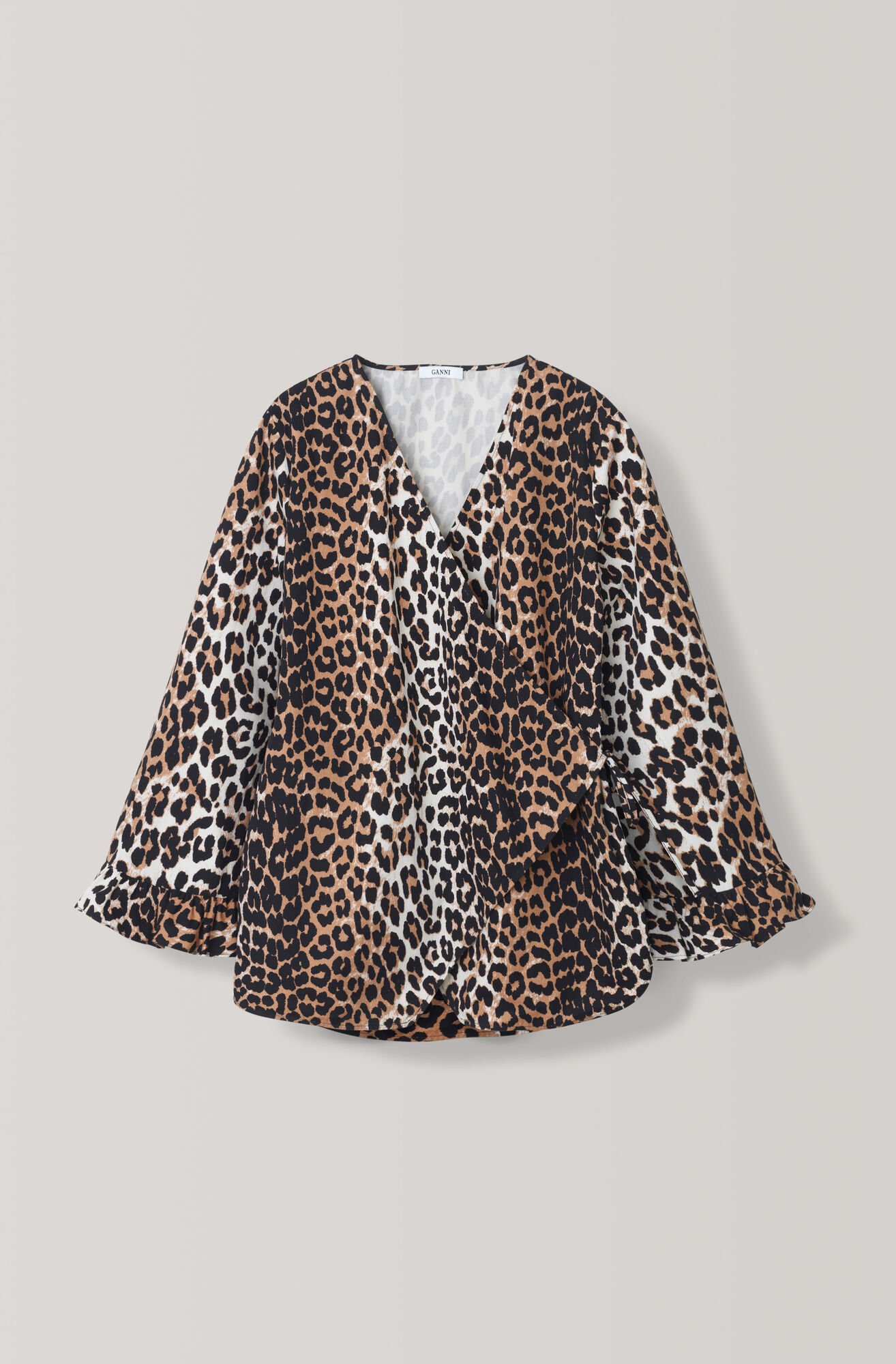 Fabre Cotton Blouse, Leopard, hi-res