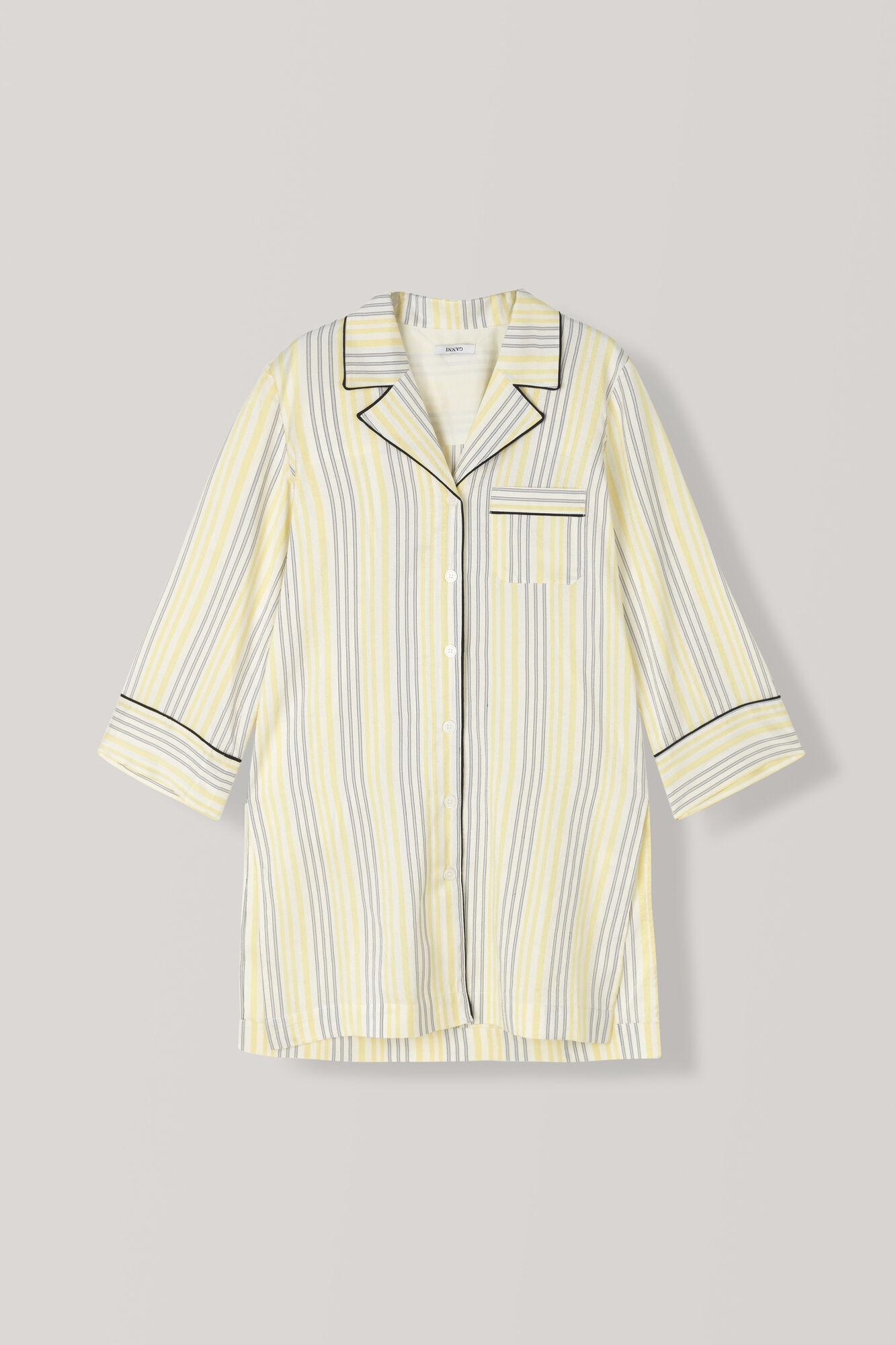 Bergamot Silk Shirt Dress, Vanilla Ice, hi-res