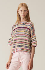 Mixed Knit Pullover, Multicolour, hi-res