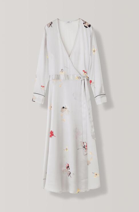 Dufort Silk Wrap Dress, Antarctica, hi-res
