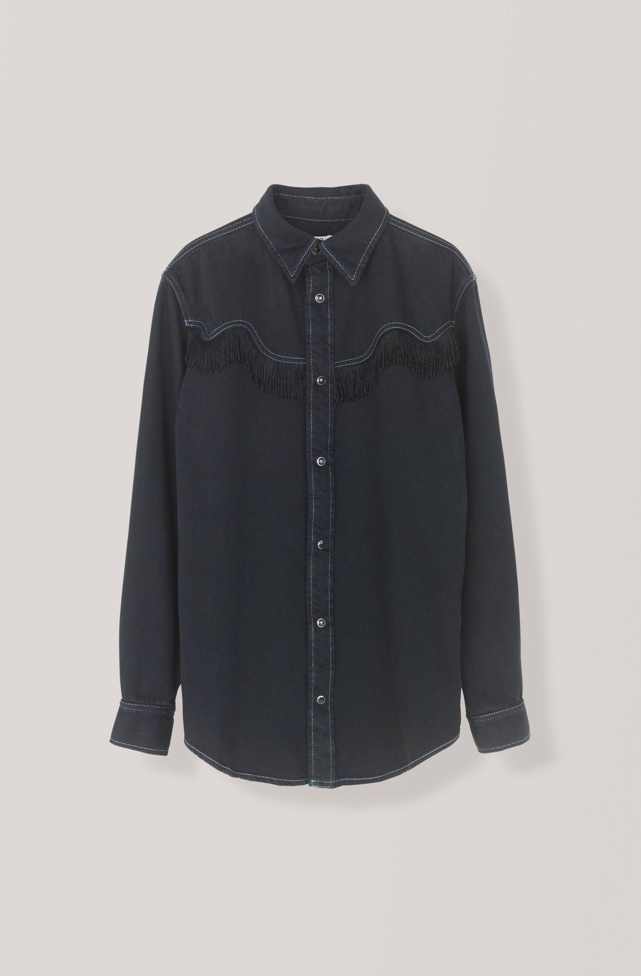 Soft Denim Hemd, Black Washed, hi-res