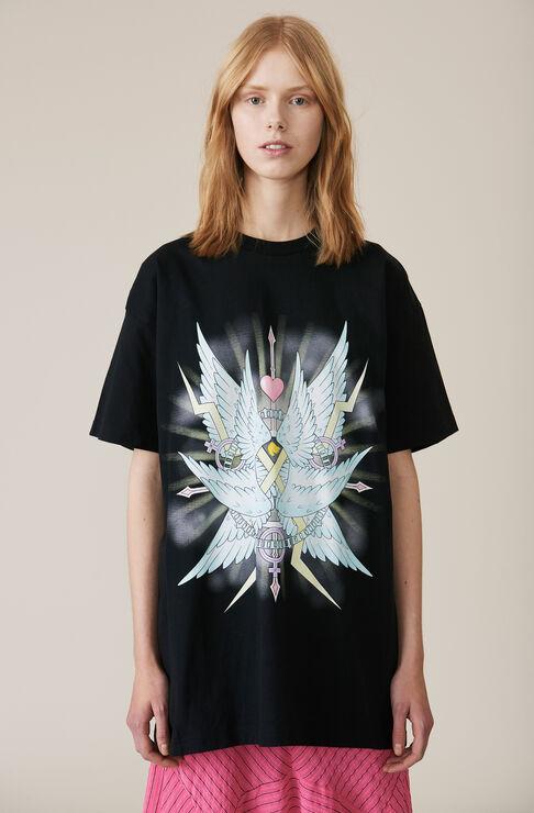 Johnson Oversized T-shirt, Wings, Black, hi-res