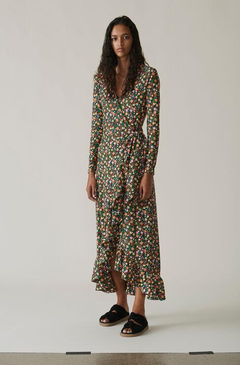 Alameda Wrap Dress, Multicolour, hi-res
