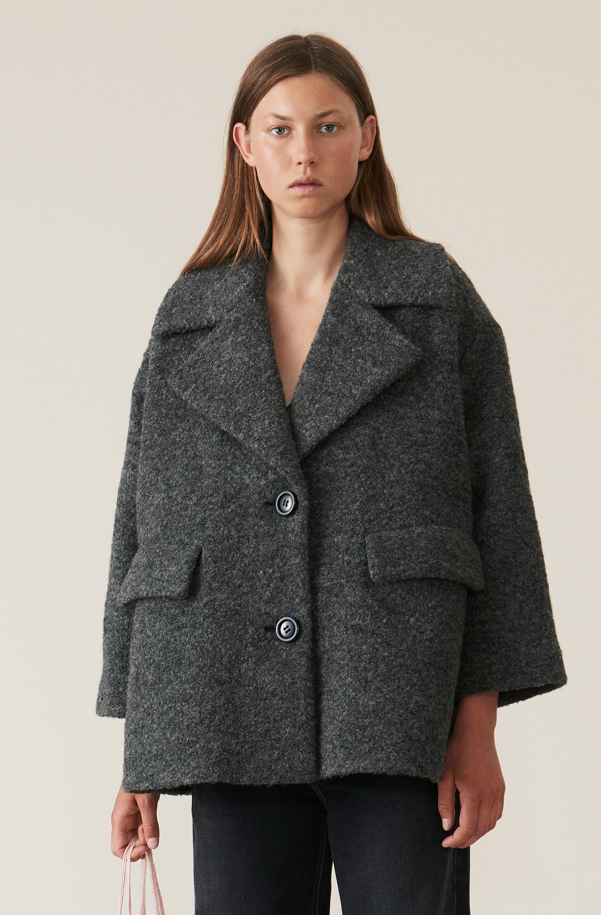 Ganni teddy mantel