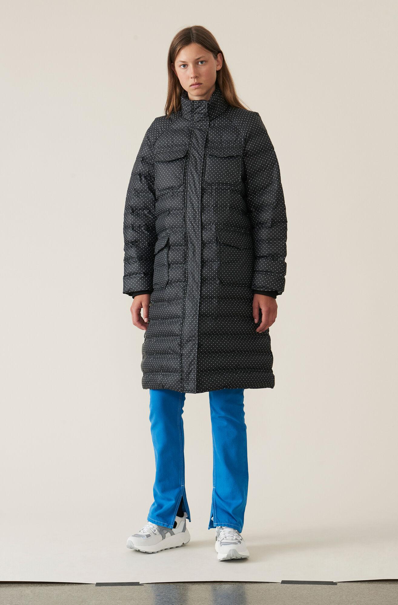 Printed Tech Jacket, Black, hi-res
