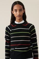 Wool Knit Striktrøje, Multicolour, hi-res