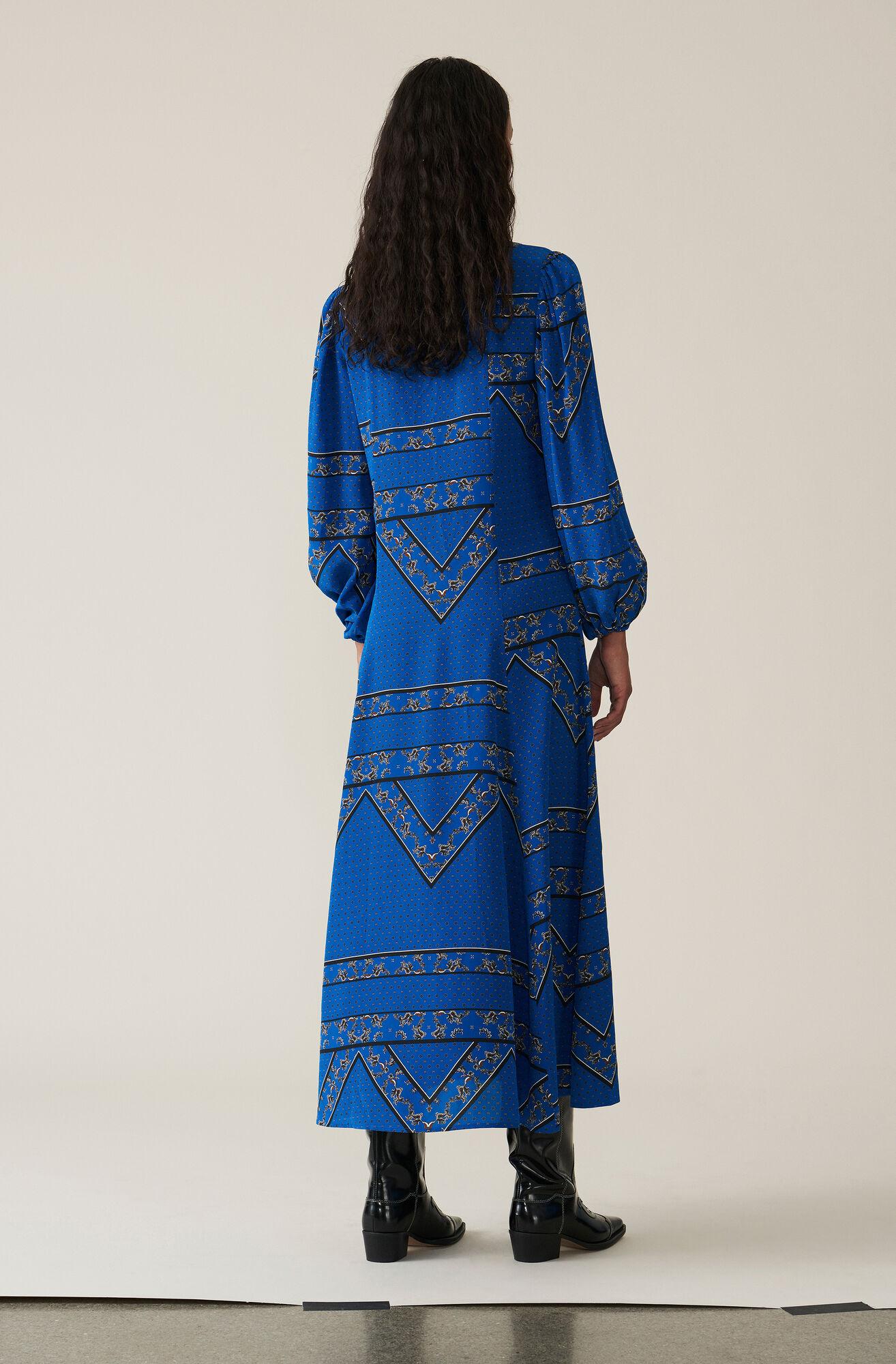 Sandwashed Silk Maxi Dress, Lapis Blue, hi-res
