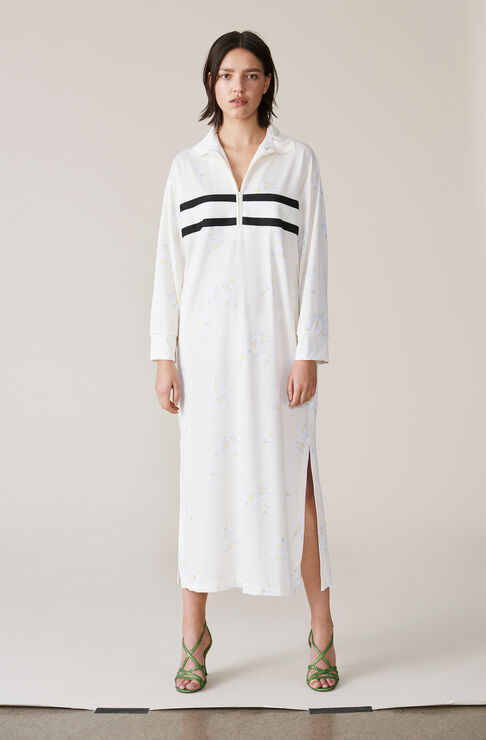 Dubois Polo Printed Dress, Egret, hi-res