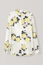 Silvery Crepe Shirt, Vanilla Ice, hi-res