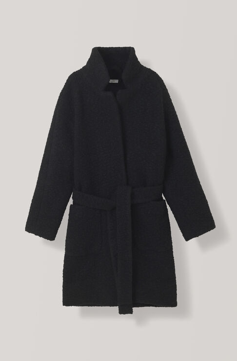 Fenn Wrap Coat, Black, hi-res