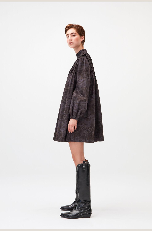 가니 미니 원피스 Ganni Oversized Mock-Neck Mini Dress,Phantom