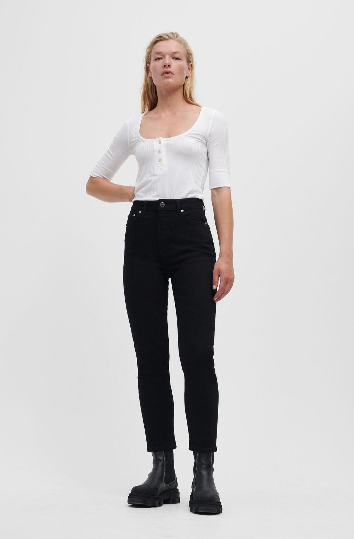 가니 블랙진 Ganni Cutye Jeans,Black/Black