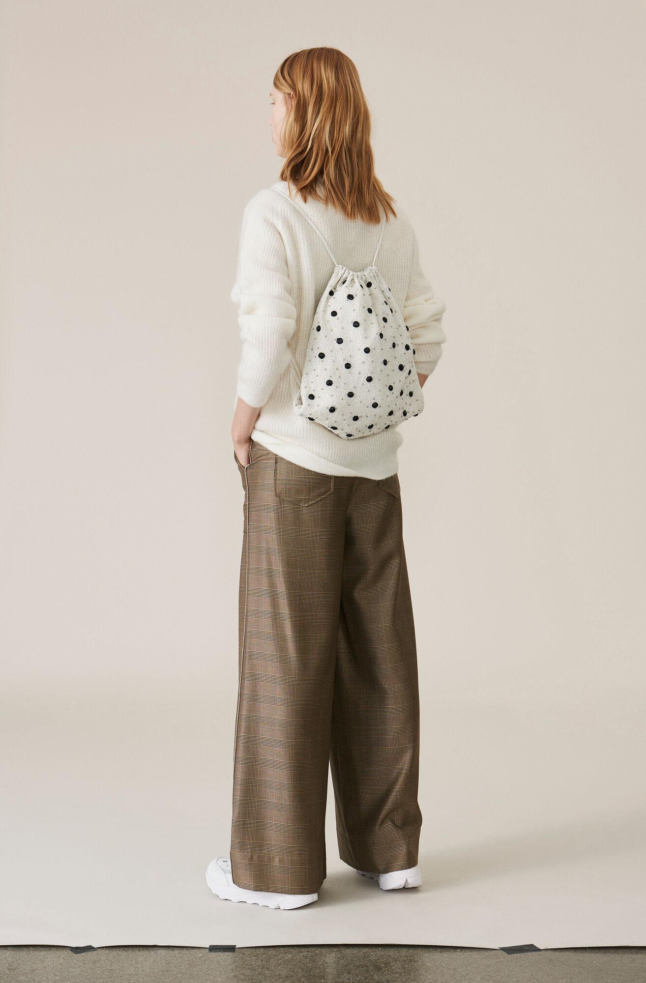 Silk Wool Suiting Weite Hose, Hazelnut, hi-res
