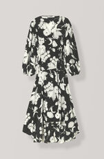 Kochhar Omlottklänning, Black, hi-res