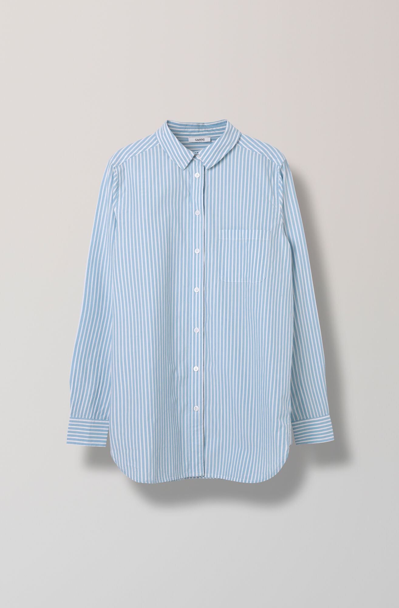 Favourite Shirt Cotton Shirt Striped, Pearl Blue, hi-res