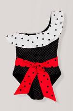 Oversized Print Swimwear One-shoulder Badeanzug, Multicolour, hi-res