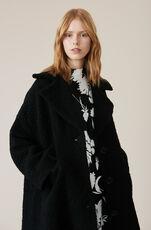 Boucle Wool Oversized Coat, Black, hi-res