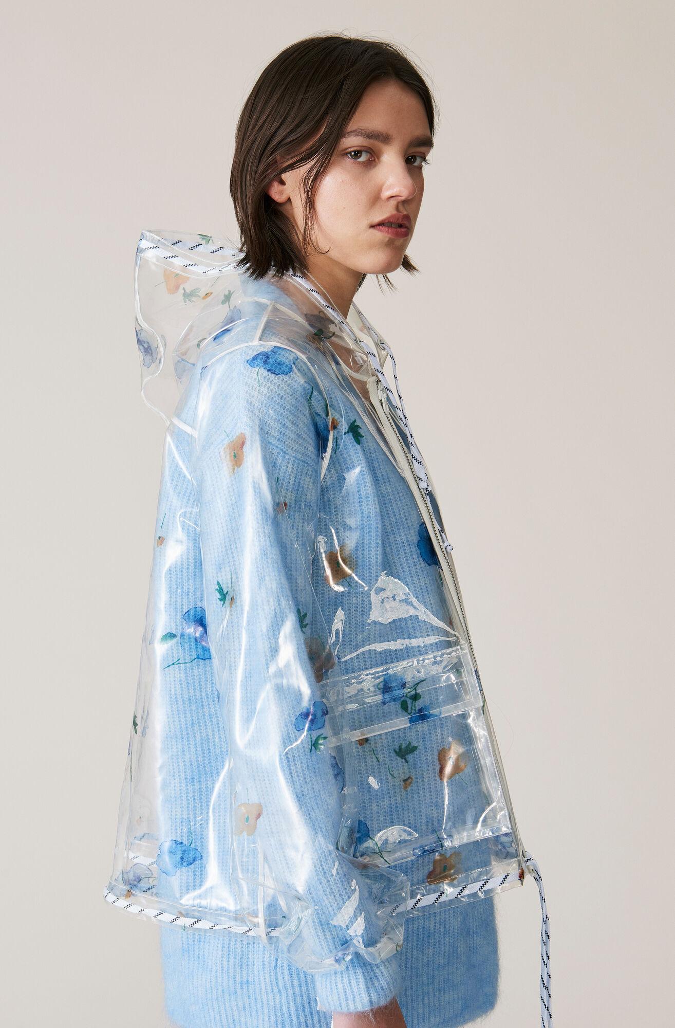 Petunia Bionedbrydelig Regnfrakke, Transparent, hi-res