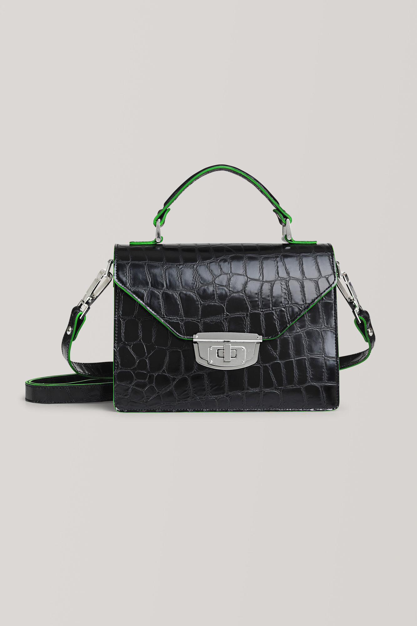 Gallery Accessories Buckle Bag, Black, hi-res