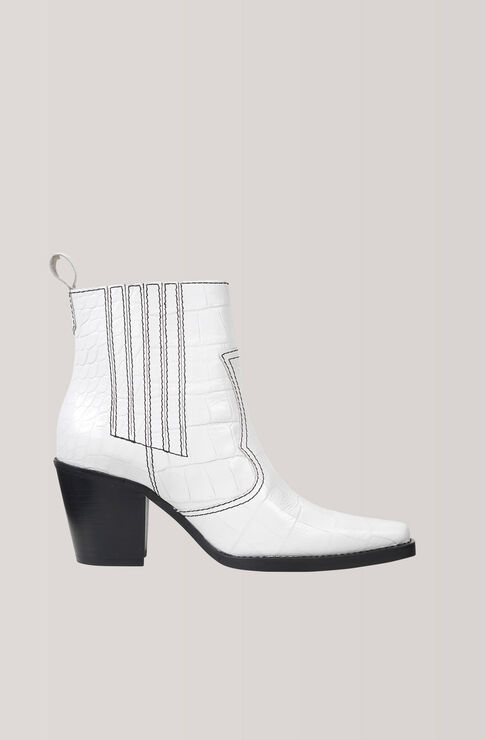 Callie Ankle Boots, Bright White, hi-res