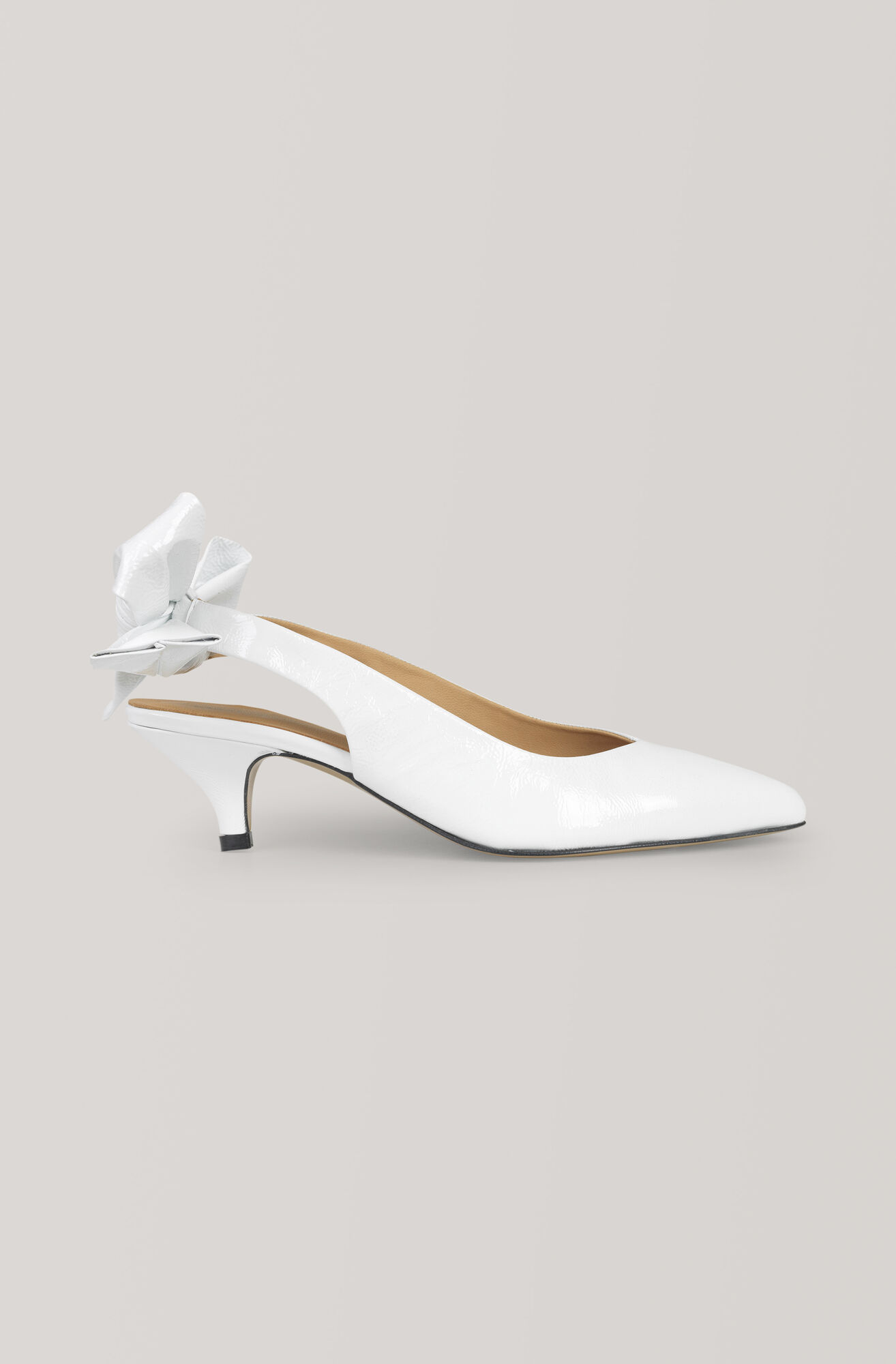 Bow Kitten Heel Pumps, Bright White, hi-res