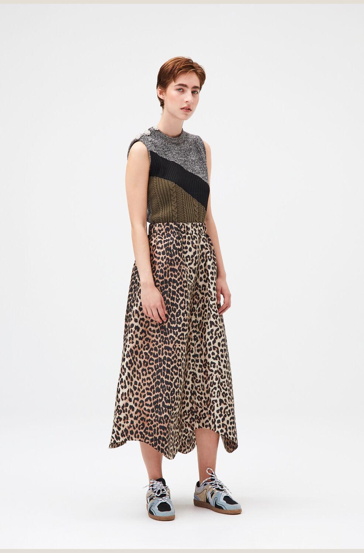 가니 레오파드 롱스커트 Ganni Jacquard Maxi Skirt,Leopard