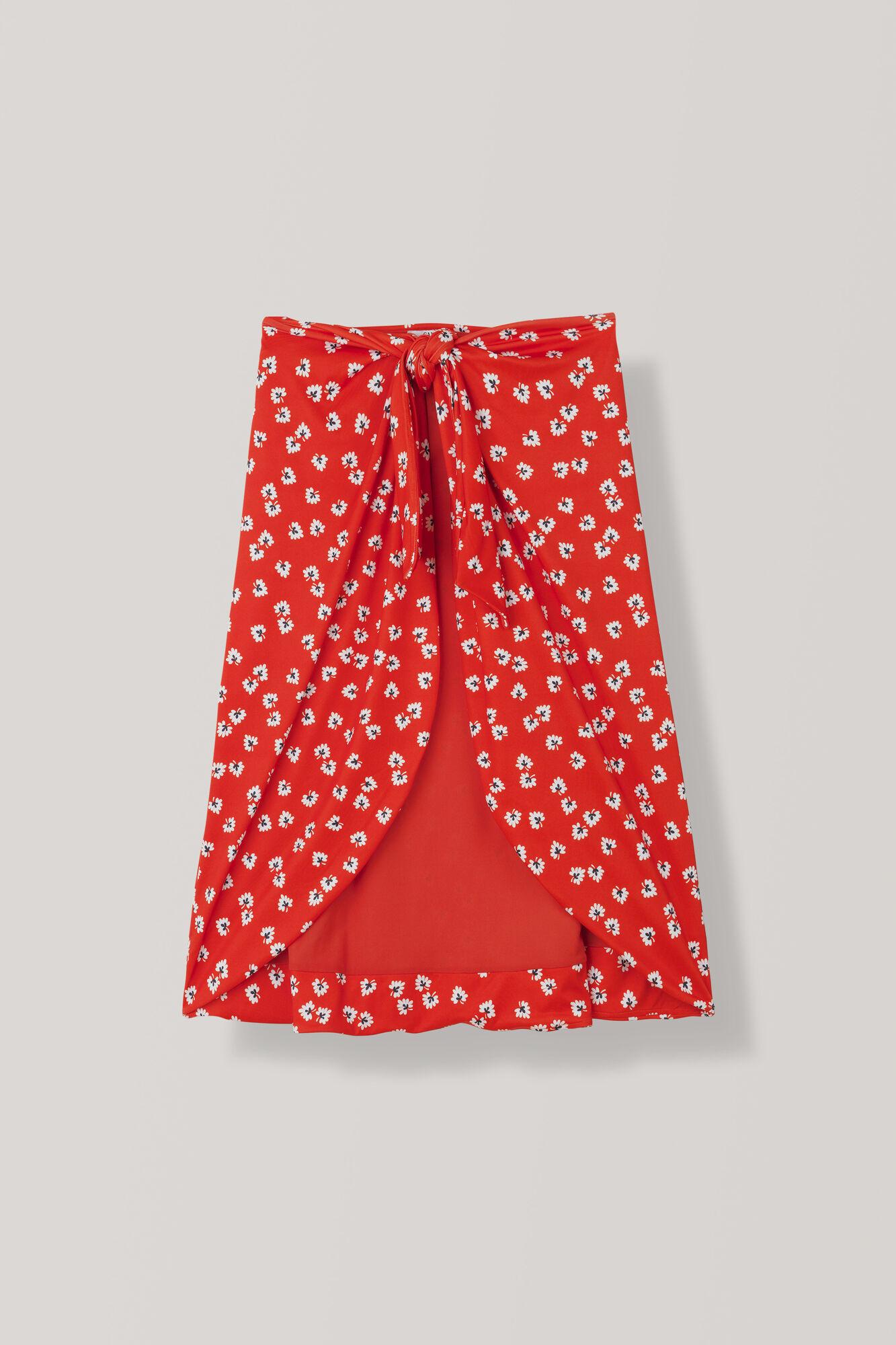 Columbine Swimwear Skirt, Big Apple Red, hi-res