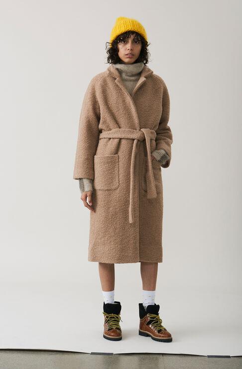 Fenn Long Wrap Coat, Chanterelle, hi-res