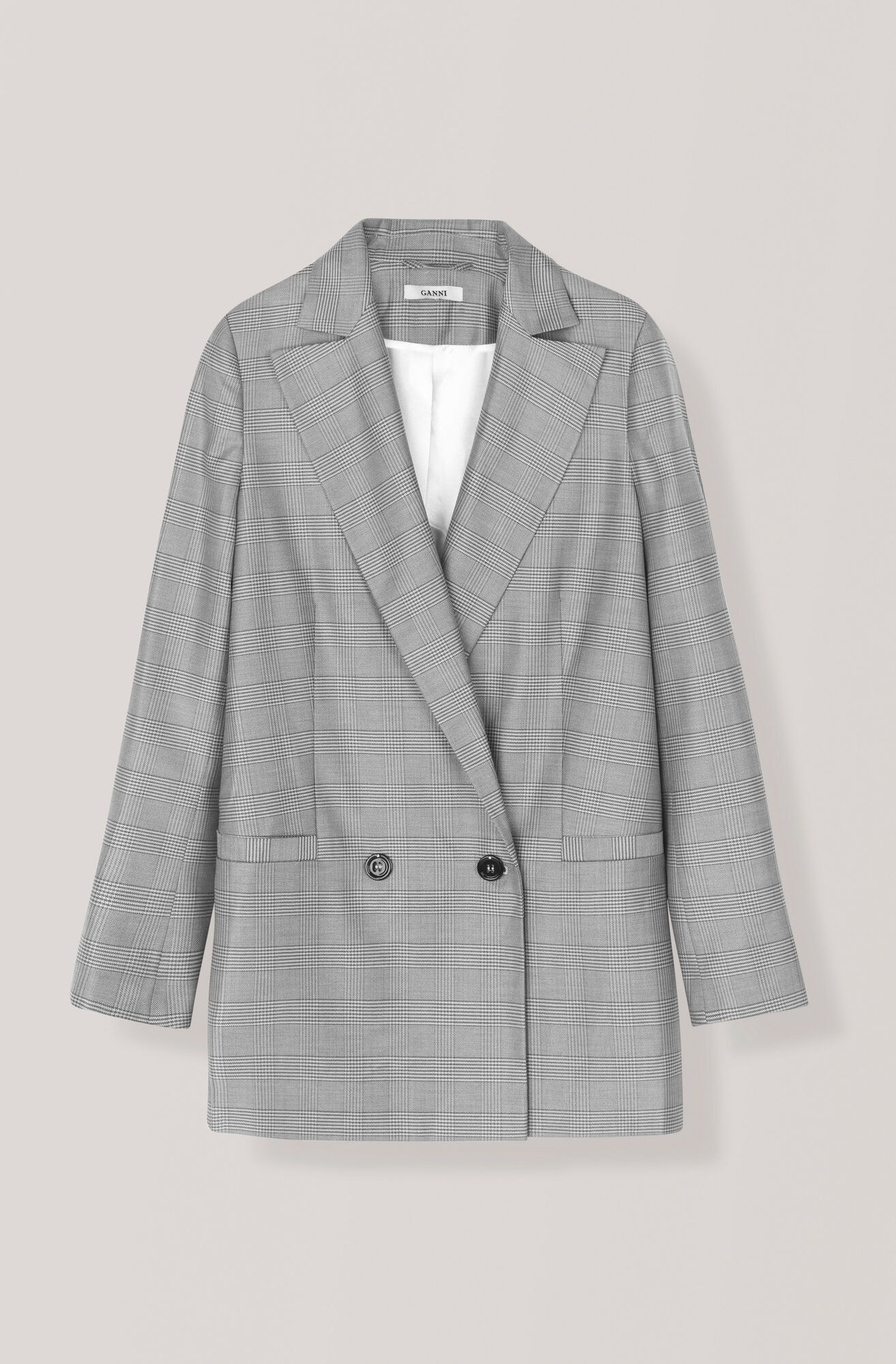 Silk Wool Suiting Blazer, Paloma Melange, hi-res