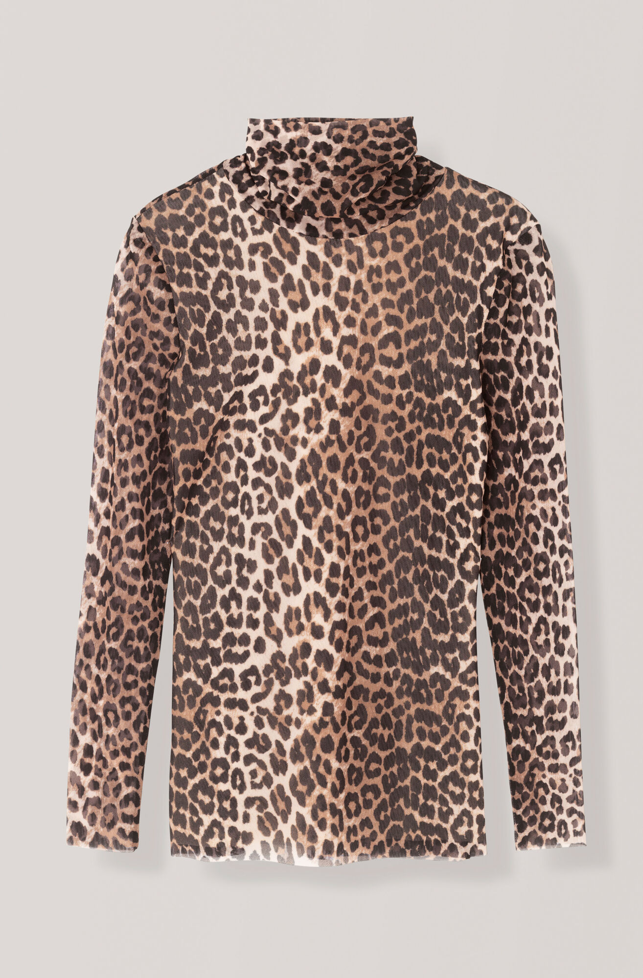 Printed Mesh Rullkrage, Leopard, hi-res