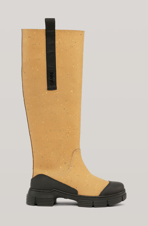 Ganni RECYCLED RUBBER COUNTRY BOOT