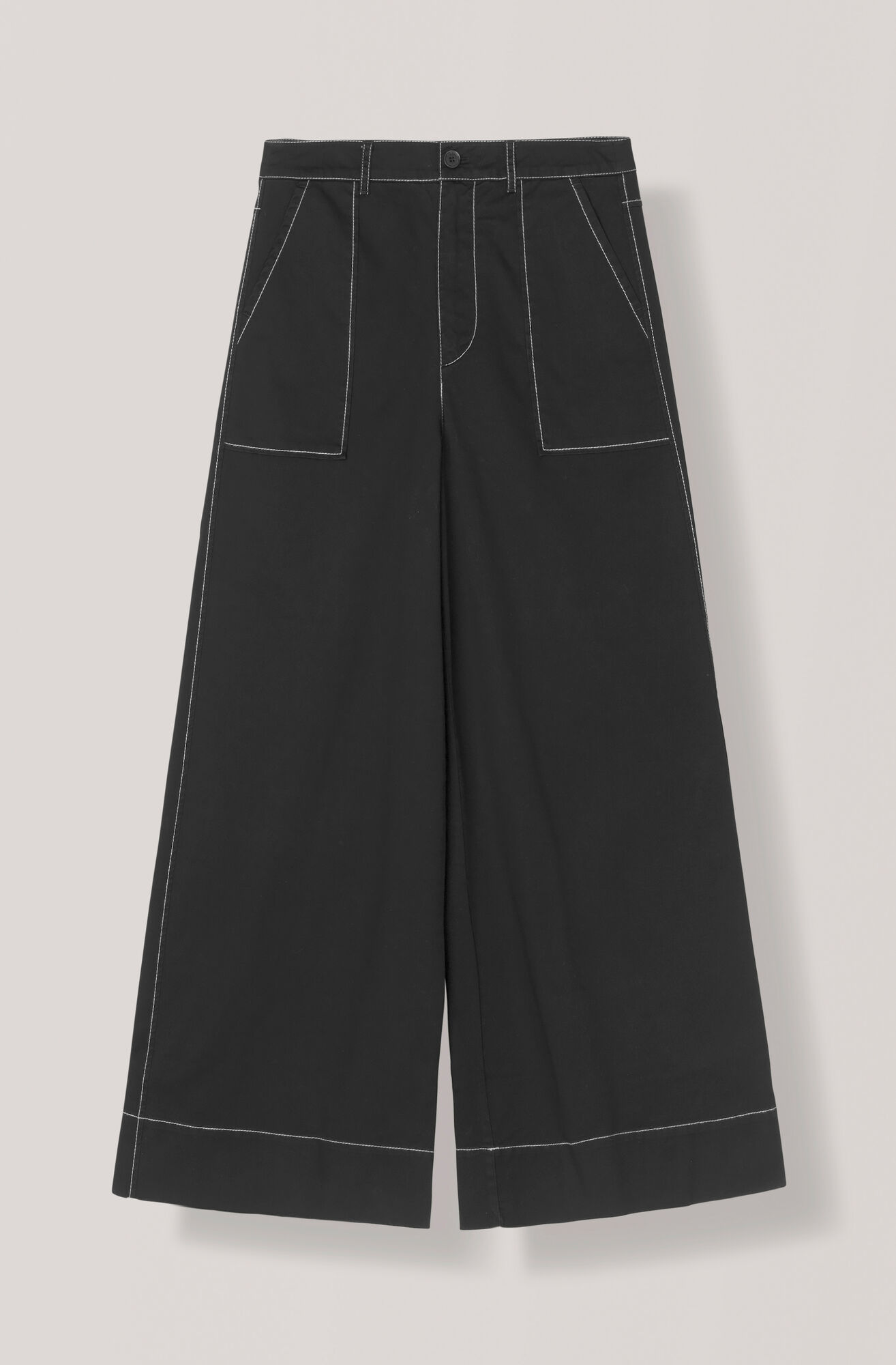 Stretch Chino Pants, Black, hi-res