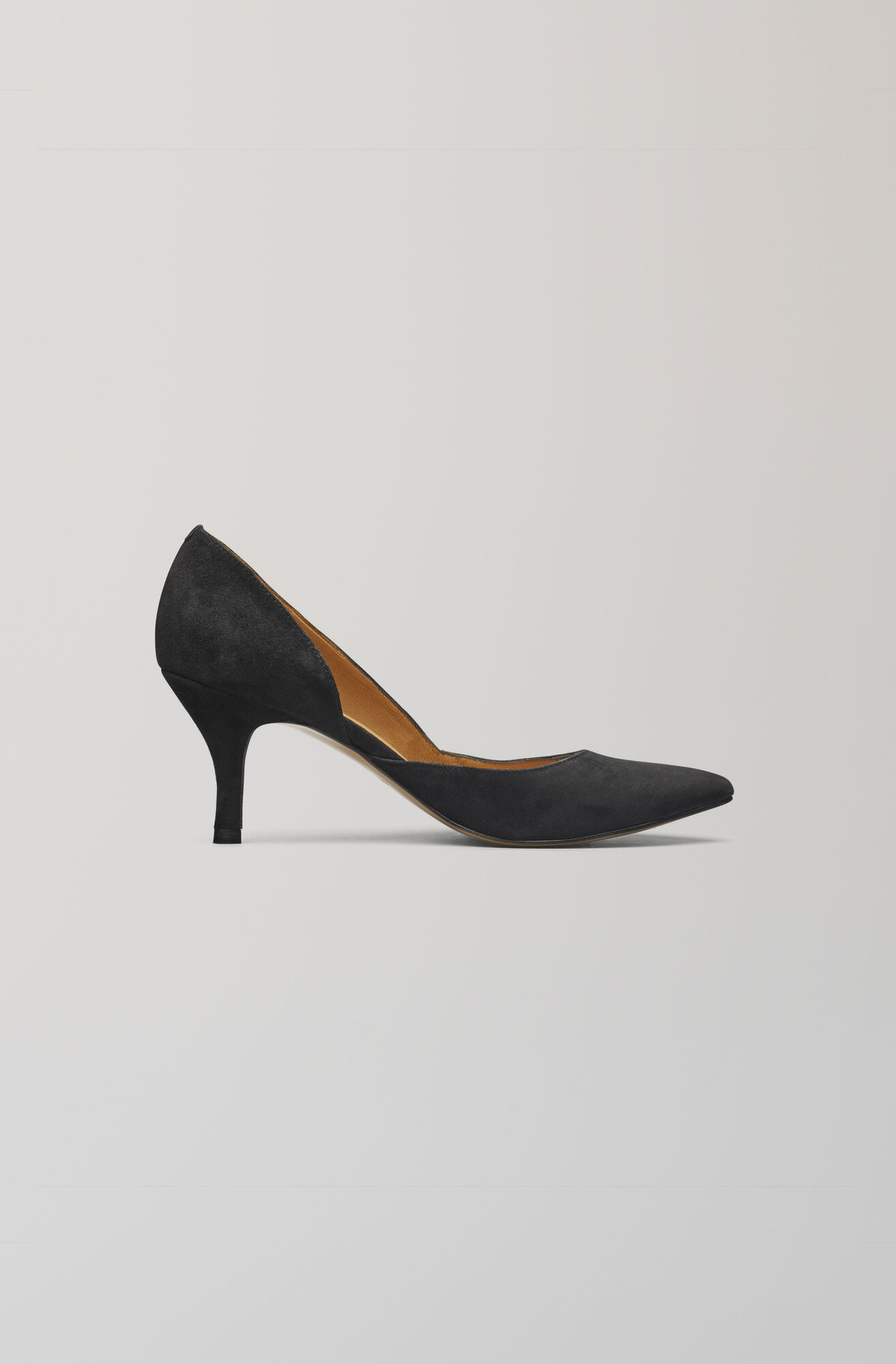 Janet Suede Pumps, Black, hi-res