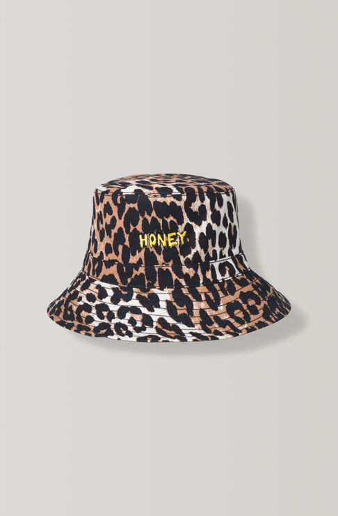 Fabre Cotton Hat, Leopard, hi-res