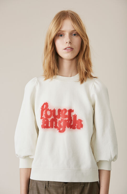 Lott Isoli Puff Sweatshirt, Power Angels, Egret, hi-res