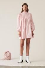 Printed Poplin Minikleid, Silver Pink, hi-res