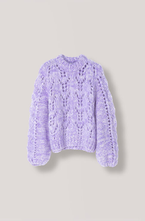 The Julliard Mohair Pullover, Pastel Lilac, hi-res