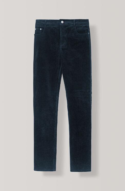 Stretch Corduroy Slim Pants, Total Eclipse, hi-res