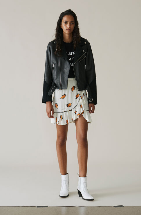 Roseburg Crepe Mini Skirt, Vanilla Ice, hi-res