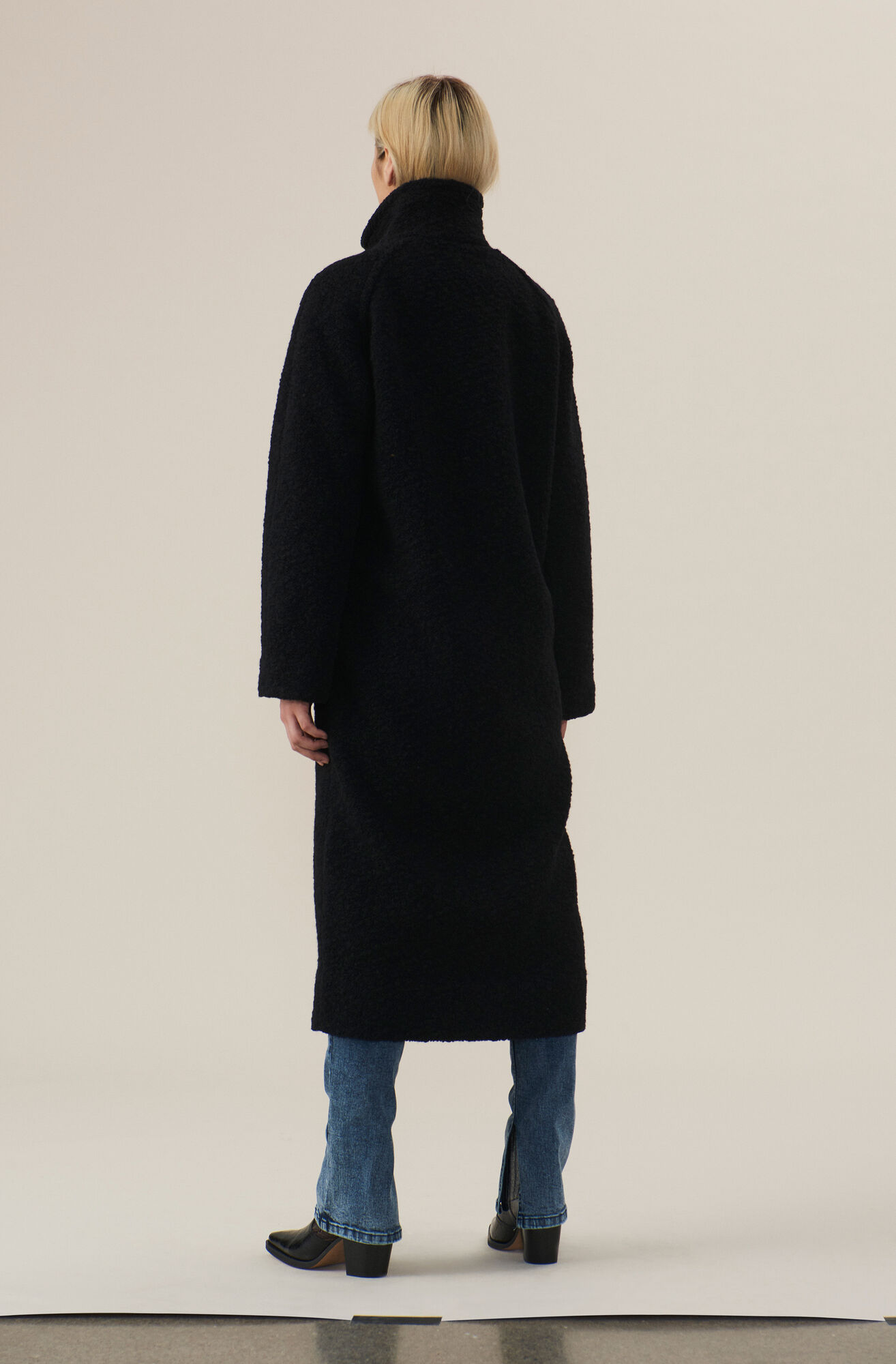 choose genuine complimentary shipping world-wide selection of Boucle Wool Long Wrap Coat