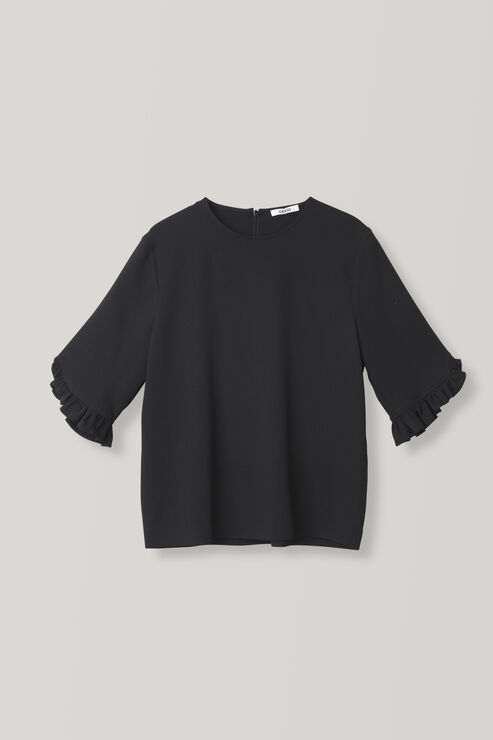 Clark Blouse, Black, hi-res