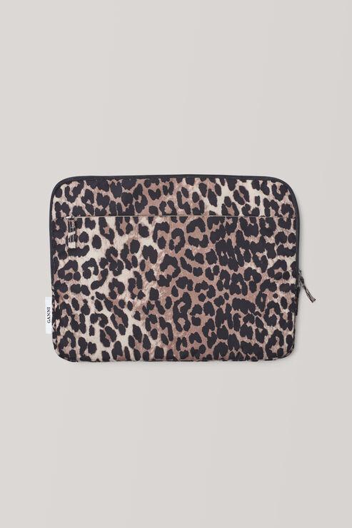 Fairmont Accessories Laptop Sleeve, Leopard, hi-res