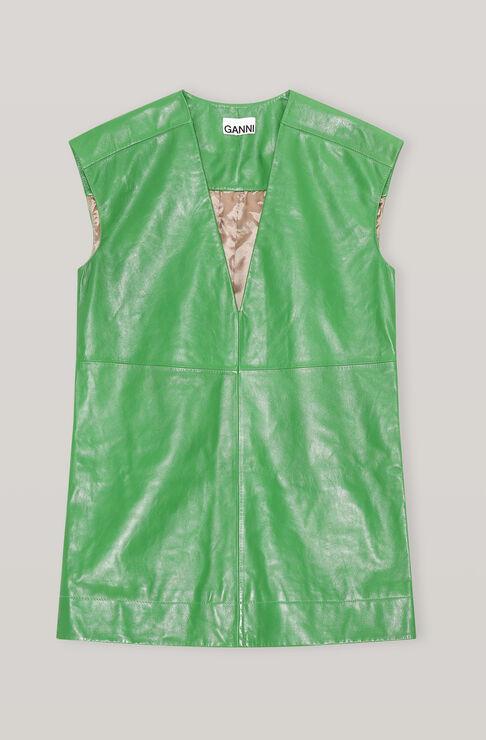 Ganni Leathers LAMB LEATHER SLEEVESLESS DRESS