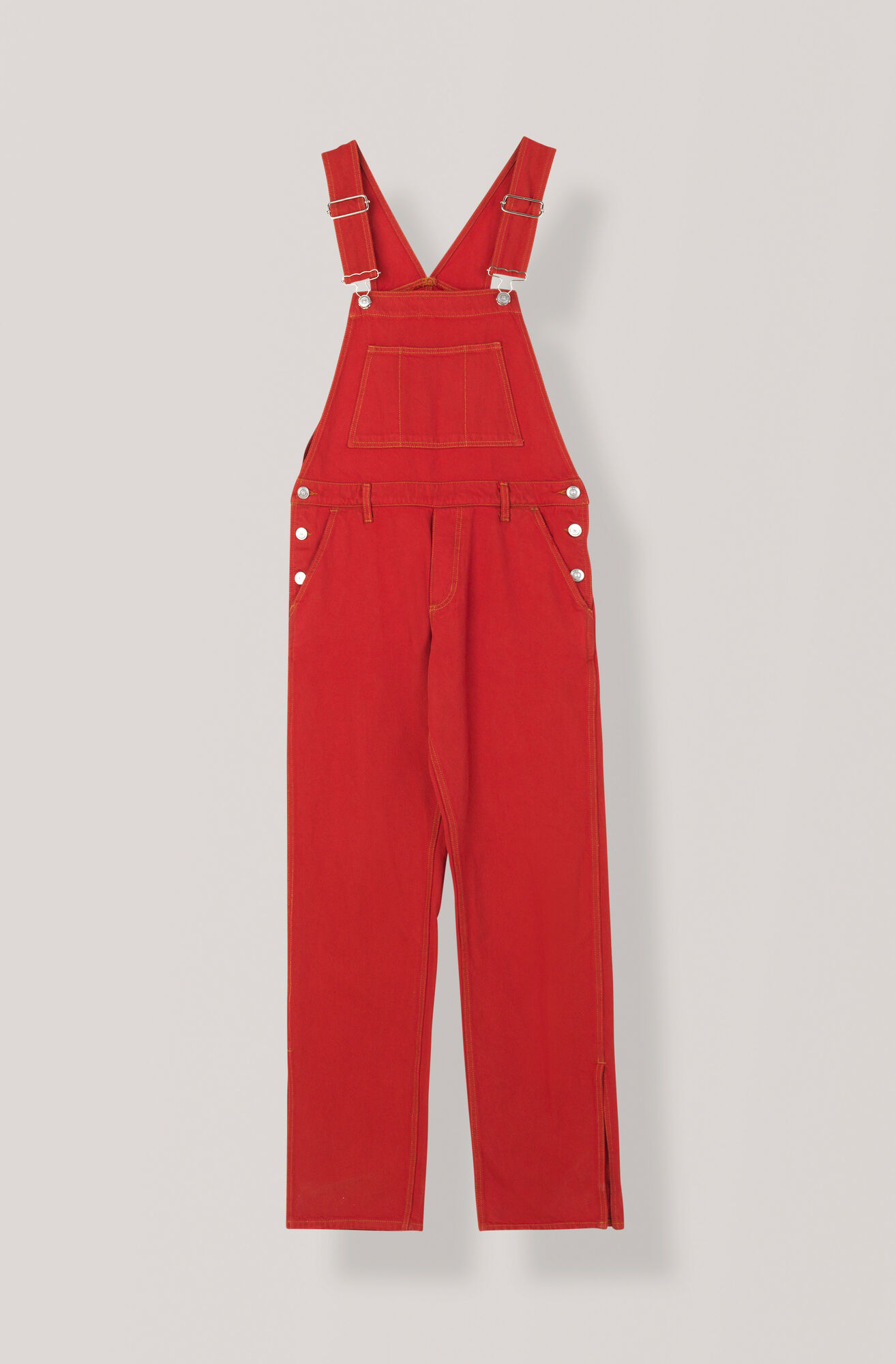 Denim Dungaree, Fiery Red Overdye, hi-res