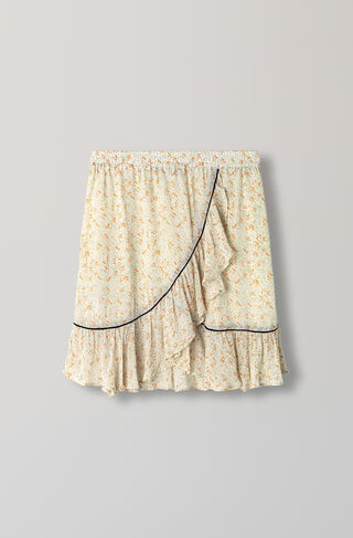 Clermont Georgette Skirt, Meadow Flowers, hi-res