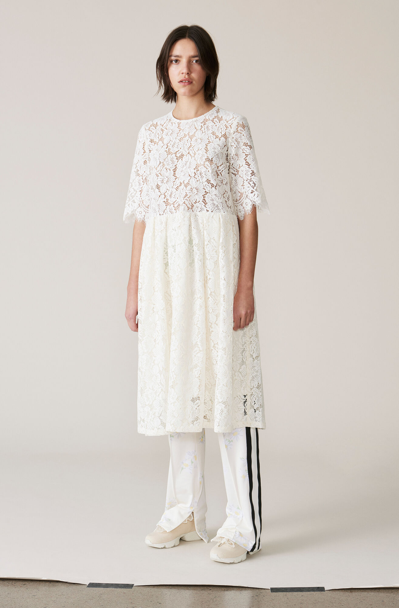 Jerome Lace Dress, Egret, hi-res