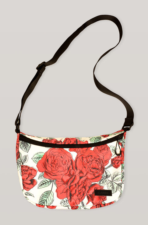 Ganni SEASONAL RECYCLED TECH SHOULDER BAG