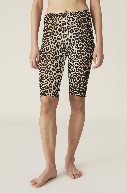 Ganni Rayon Underwear Short Leggings,Leopard